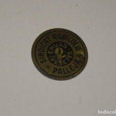 Monedas locales: (M) GUERRA CIVIL - SINDICAT AGRICOLA PALLEJÀ 2 PTES, SEÑALES DE USO NORMALES. Lote 296626668