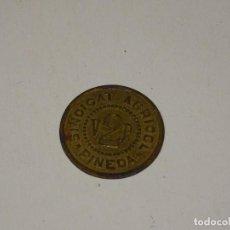 Monedas locales: (M) GUERRA CIVIL - SINDICAT AGRICOLA PINEDA V. 2 PTES, SEÑALES DE USO NORMALES. Lote 296626868