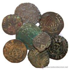 Monedas medievales: *** BUEN LOTE DE 8 VELLONES CASTELLANOS A CLASIFICAR, ALFONSO I, JUAN I, ENRIQUE IV... ***. Lote 28583607