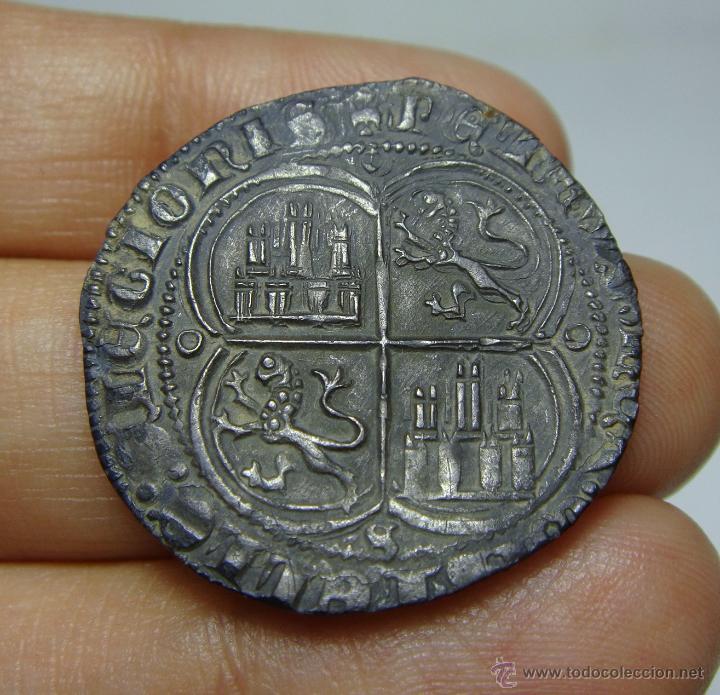 Monedas medievales: Magnifico 1 Real. Plata. Pedro I (El Cruel). Sevilla. Preciosa patina. Muy rara en esta conservación - Foto 2 - 49874420