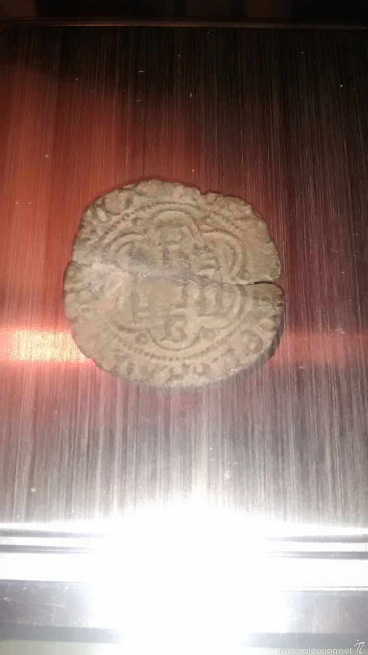 Monedas medievales: Moneda Blanca Enrique III Burgos 1390 - 1406 - Foto 2 - 53772062