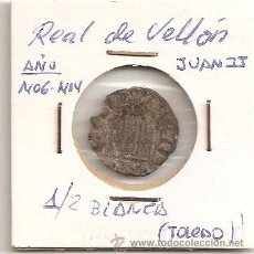 Monedas medievales: MUY RARA MONEDA MEDIEVAL 1/2 BLANCA TOLEDO REAL DE VELLÓN JUAN II 1406-1454. MBC. Lote 53974485