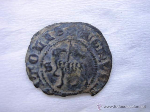 MONEDA 1/2 BLANCA DE AGNUS DEI VELLON DE JUAN I. CECA SEVILLA (Numismática - Medievales - Castilla y León)
