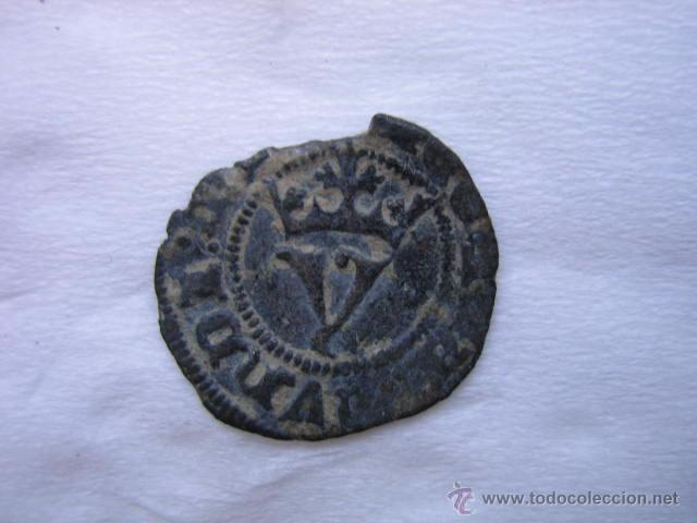 Monedas medievales: MONEDA 1/2 BLANCA DE AGNUS DEI VELLON DE JUAN I. CECA SEVILLA - Foto 3 - 54745884