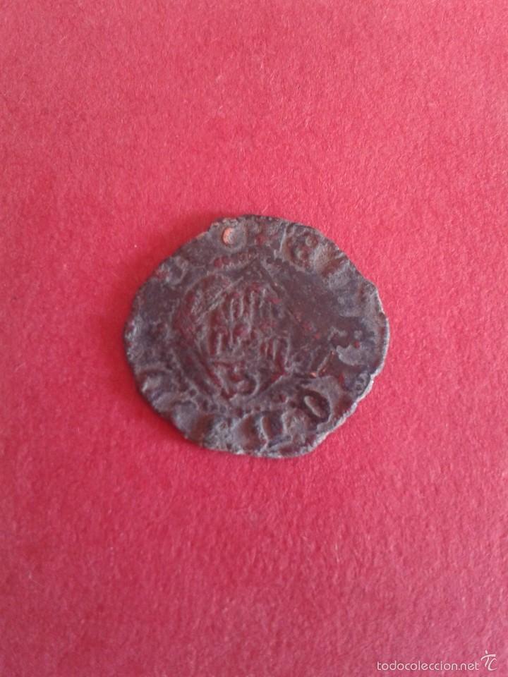 ENRIQUE IV. EL IMPOTENTE. 1454-1474. DINERO DEL ROMBO. CECA DE SEVILLA. . (Numismática - Medievales - Castilla y León)