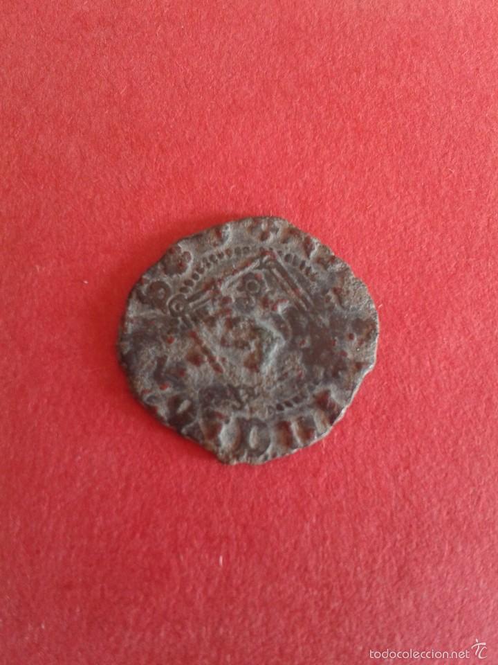 Monedas medievales: ENRIQUE IV. EL IMPOTENTE. 1454-1474. DINERO DEL ROMBO. CECA DE SEVILLA. . - Foto 2 - 56521637