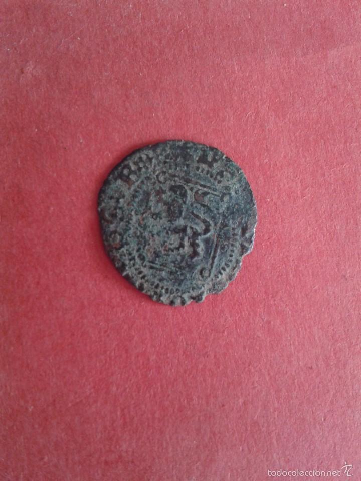 ENRIQUE IV. EL IMPOTENTE. 1454-1474. DINERO DEL ROMBO. CECA DE SEVILLA. DOBLE ACUÑACIÓN. REPINTADA. (Numismática - Medievales - Castilla y León)