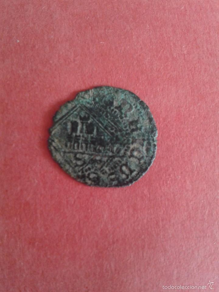 Monedas medievales: ENRIQUE IV. EL IMPOTENTE. 1454-1474. DINERO DEL ROMBO. CECA DE SEVILLA. DOBLE ACUÑACIÓN. REPINTADA. - Foto 2 - 56667053