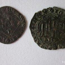 Monedas medievales: 2 BLANCAS DE BURGOS. JUAN II Y ENRIQUE IV.. Lote 61515299