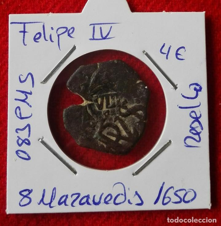 8 MARAVEDIS DE FELIPE IV DEL AÑO 1650 - RESELLADOS (Numismática - Medievales - Castilla y León)