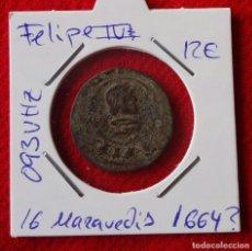 Monedas medievales: 16 MARAVEDIS DE FELIPE IV DEL AÑO 1664 ? - RESELLADOS. Lote 77875225
