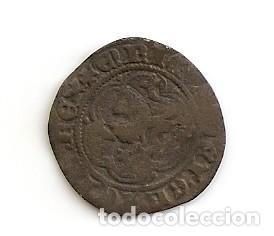 MUY RARA MONEDA MEDIAVAL BLANCA DE 2 CORNADOS (VELLÓN) ENRIQUE III 1390-1406 CECA BURGOS B. MBC (Numismática - Medievales - Castilla y León)