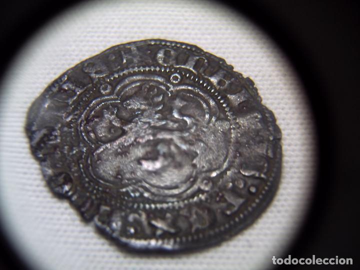 Monedas medievales: BLANCA DOS CORNADOS VELLON. 1390. SEVILLA ENRIQUE III. NORMAL CONSERVACION. - Foto 2 - 90750905