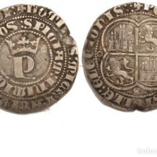 Monedas medievales: INÉDITO REAL DE PEDRO I. CECA: SEVILLA. DOS ROELES EN REVERSO A LA DERECHA DEL ESCUDO. Lote 93949495