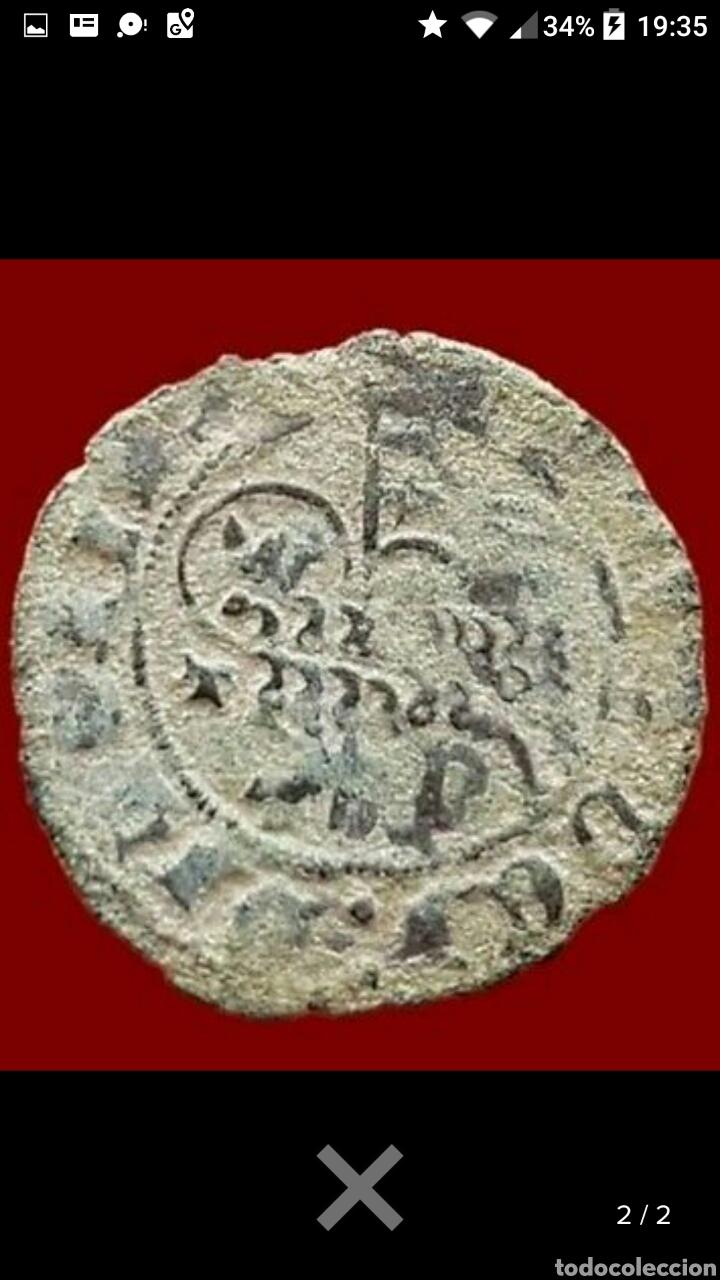 BLANCA DE VELLON DEL CORDERO AGNUS DEI JUAN I TOLEDO 22MM 1,8GR (Numismática - Medievales - Castilla y León)