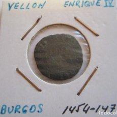 Monedas medievales: MONEDA DE 1/2 BLANCA O VELLON DE ENRIQUE IV 1454-1474 (BURGOS). Lote 99190947