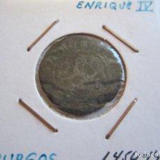 Monedas medievales: MONEDA DE 1 BLANCA DE ENRIQUE IV 1454-1474 (BURGOS) BONITA. Lote 99190959