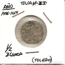Monedas medievales: MUY RARA MONEDA JUAN II 1406-1454 CECA (TOLEDO T) N.D. BLANCA DE 2 CORNADOS (VELLÓN). MBC-. Lote 103325411