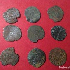 Monedas medievales: LOTE DE 9 MONEDAS MEDIEVALES. VER IMAGENES.. Lote 110782099