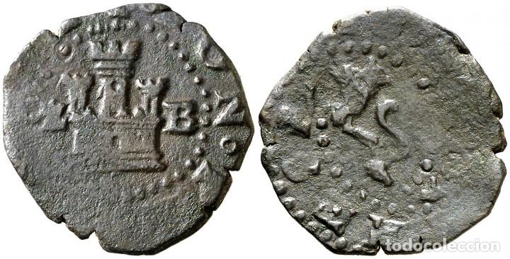 S/D. FELIPE II. BURGOS. 2 CUARTOS. 3,38 G. ESCASA. MBC (Numismática - Medievales - Castilla y León)
