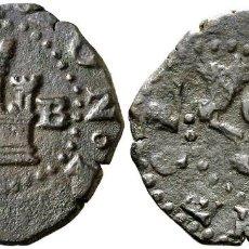 Monedas medievales: S/D. FELIPE II. BURGOS. 2 CUARTOS. 3,38 G. ESCASA. MBC. Lote 111244603