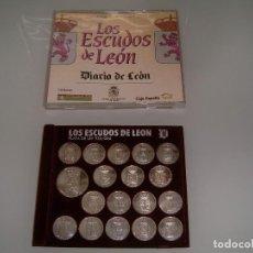 Monedas medievales: MONEDAS ESCUDOS DE LEON. Lote 111981995