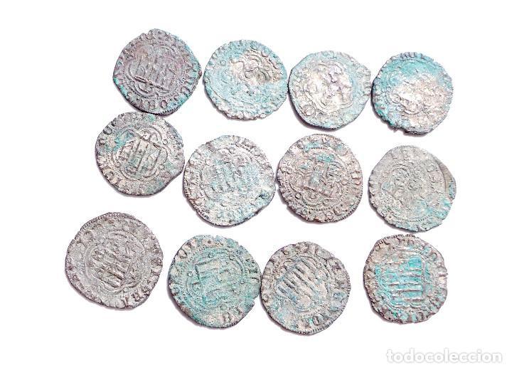 Monedas medievales: LOTE DE MONEDAS DE CASTILLA Y LEÓN. BLANCAS DE ENRIQUE III. MUY BUEN ESTADO - Foto 2 - 122558195