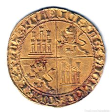Monedas medievales: REINO CASTILLA DOBLA DE ORO DE LA BANDA JUAN II BURGOS (1406-1454). Lote 127515311