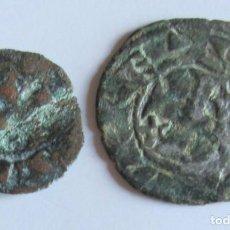 Monedas medievales: ALFONSO I DE ARAGON COMO REY CONSORTE DE LEON - DINERO Y OBOLO. Lote 128420523