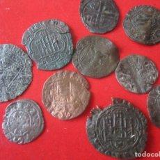 Monedas medievales: LOTE DE 10 MONEDAS MEDIEVALES ESPAÑOLAS DE CASTILLA Y LEÓN Y ARAGON. Lote 130924796