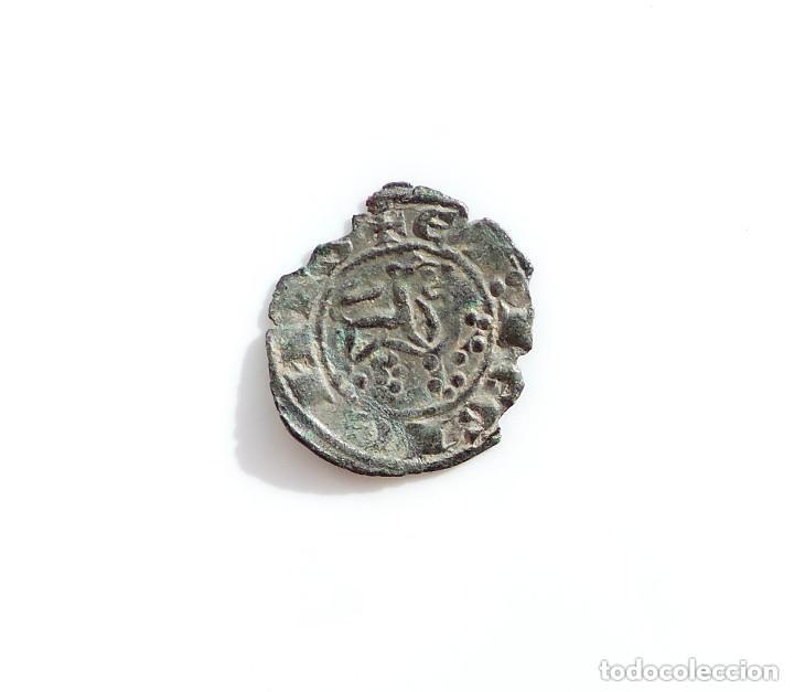 Monedas medievales: MARAVEDÍ PRIETO DE ALFONSO X, 1252-1284 - LUNA HACIA ABAJO - Foto 2 - 132456082