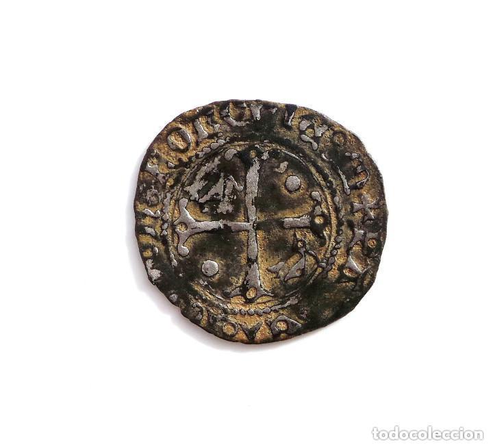 Monedas medievales: BLANCA DE VELLÓN DE ENRIQUE II DE NAVARRA (1516-1555) - Foto 2 - 132684342