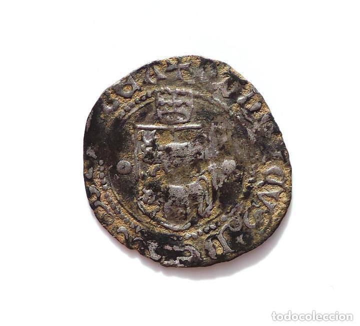 Monedas medievales: BLANCA DE VELLÓN DE ENRIQUE II DE NAVARRA (1516-1555) - Foto 3 - 132684342