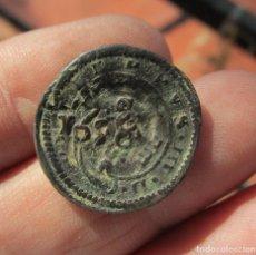 Monedas medievales: FELIPE III. 4 MARAVEDIS DE 1618 RESELLADOS. Lote 133496758