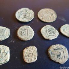 Monedas medievales: LOTE DE MONEDAS RESELLOS 9PIEZAS. Lote 133634438