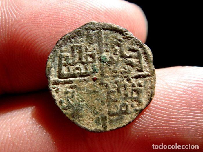 Monedas medievales: Alfonso X, el Sabio. Escaso dinero de 6 líneas. Vellón. La Coruña M245 - Foto 2 - 134444542