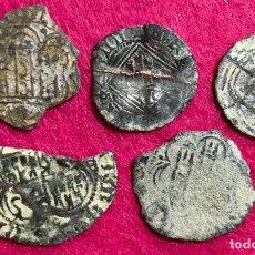 Monedas medievales: LOTE DE 5 MONEDAS MEDIEVALES . Lote 137905910