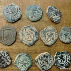 Monedas medievales: PRECIOSO LOTE DE 11 MONEDAS DE LA EPOCA DE LOS AUSTRIAS.. Lote 139739878