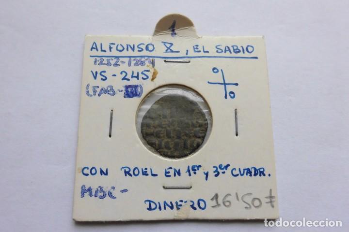 DINERO 1252 - 1284. ALFONSO X, EL SABIO (Numismática - Medievales - Castilla y León)