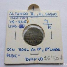 Monedas medievales: DINERO 1252 - 1284. ALFONSO X, EL SABIO. Lote 140858710