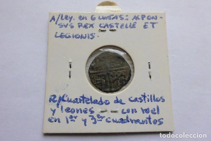 Monedas medievales: Dinero 1252 - 1284. Alfonso X, el sabio - Foto 2 - 140858710