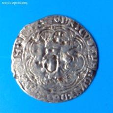 Monedas medievales: REINO DE CASTILLA Y LEON ENRIQUE IV (1454-1474) REAL PLATA SEVILLA MUY RARA. Lote 145195816