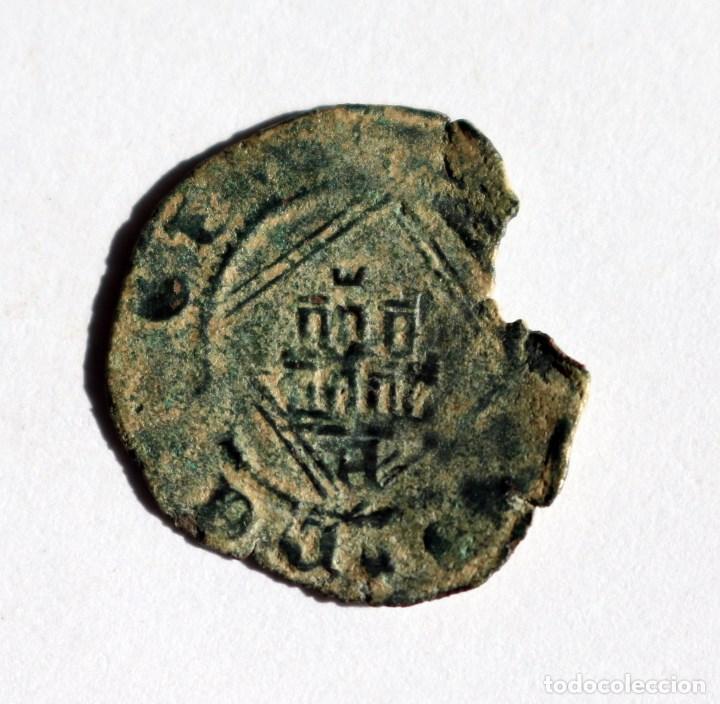 MUY ESCASA BLANCA ROMBO ENRIQUE IV AVILA 1454-1474 (Numismática - Medievales - Castilla y León)