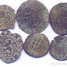 Monedas medievales: BUEN LOTE DE 6 MONEDAS MEDIAVALES. Lote 146727970