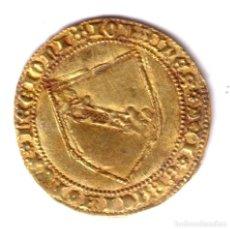 Monedas medievales: REINO DE CASTILLA DOBLA DE ORO DE LA BANDA DE JUAN II DE CASTILLA - SEVILLA. Lote 147828210