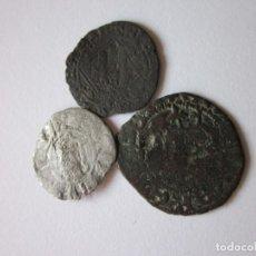 Monedas medievales: 3 MEDIEVALES. JAIME I. VALENCIA. ENRIQUE II Y ENRIQUE IV. SEVILLA.. Lote 149382374