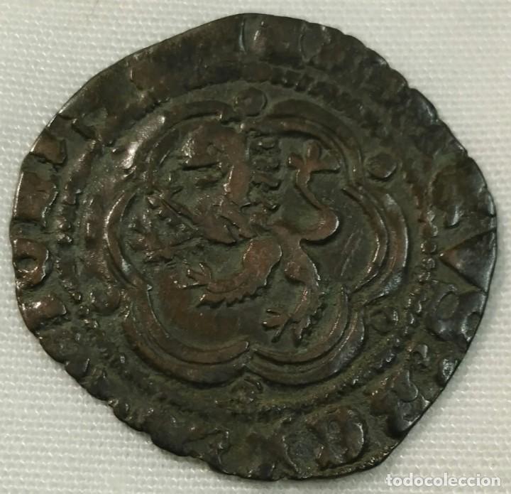 Monedas medievales: Enrique III blanca con ceca de Sevilla - Foto 2 - 149930918