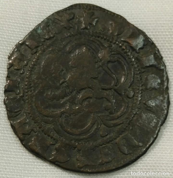 Monedas medievales: Enrique III blanca con ceca de Burgos - Foto 2 - 149931142