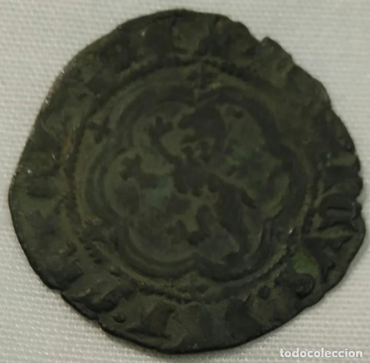 Monedas medievales: Enrique III blanca con ceca de Toledo - Foto 2 - 149931278