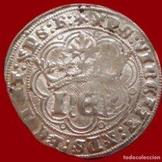 Monedas medievales: REAL DE PLATA ENRIQUE IV 1454-1474 CECA BURGOS RARÍSIMA PLATA. Lote 151659769